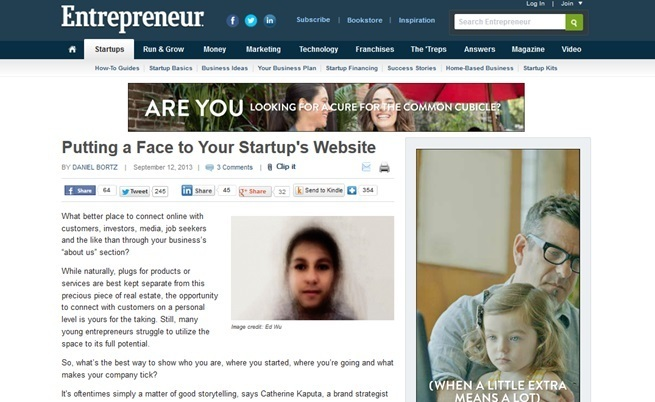 Entrepreneur.com features website tips from Rebecca Murtagh