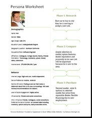 Example of a persona worksheet