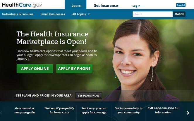 Healthcare.gov website in 2013