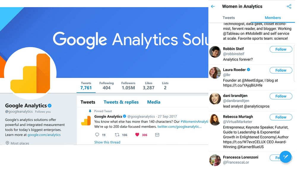 Rebecca Murtagh on Google Analytics #WomeininAnalytics list