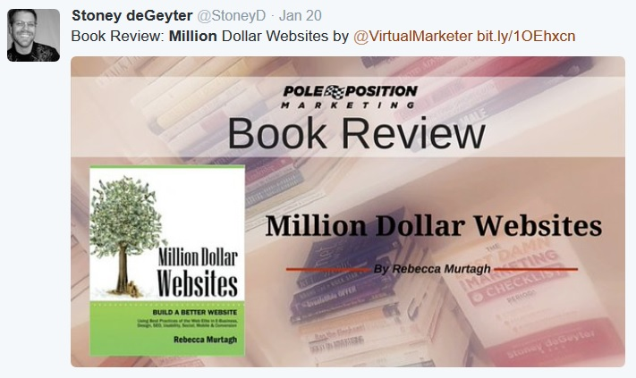 Million Dollar Websites book review by Stoney deGeyter